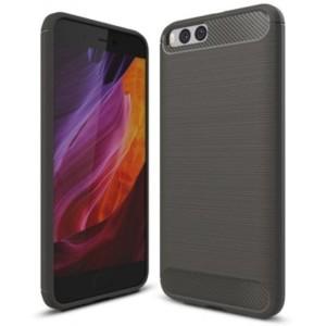 Štýlový a odolný gumený obal púzdro pre Xiaomi Mi 6 sivý