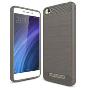 Štýlový a odolný gumený obal púzdro pre Xiaomi Redmi 4A sivý