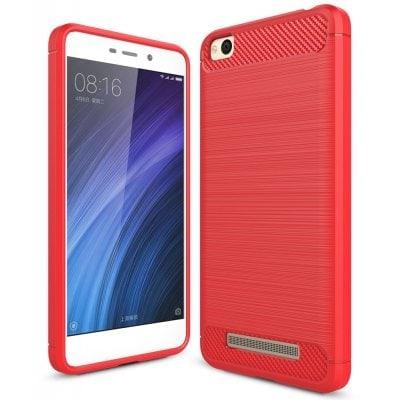 Štýlový a odolný gumený obal púzdro pre Xiaomi Redmi 4A červený
