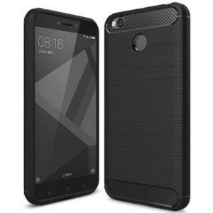 Štýlový a odolný gumený obal púzdro pre Xiaomi Redmi 4X čierny