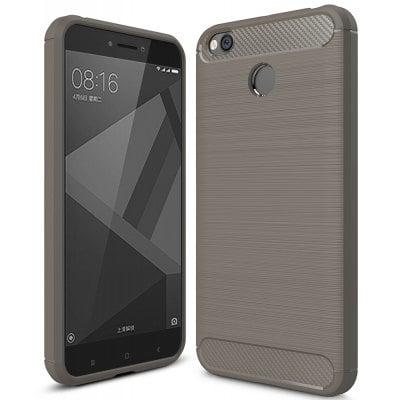 Štýlový a odolný gumený obal púzdro pre Xiaomi Redmi 4X sivý