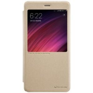 Elegantné kožené púzdro pre Xiaomi Redmi 4X zlaté