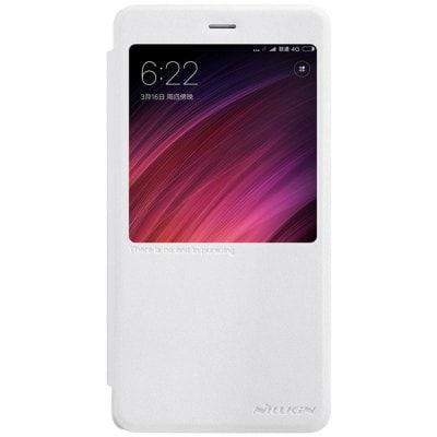 Elegantné kožené púzdro obal s flipom pre Xiaomi Redmi Note 4 Global biele