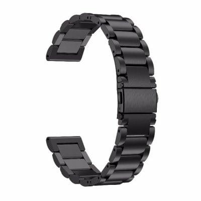 Elegantný oceľový remienok pre Xiaomi Amazfit Pace a Stratos Čierny