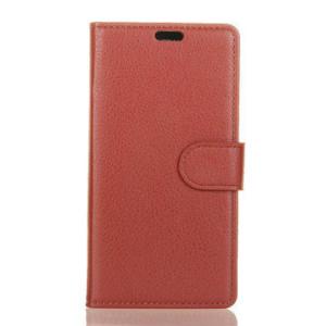 Elegantné kožené púzdro obal pre Xiaomi Mi A1 hnedé