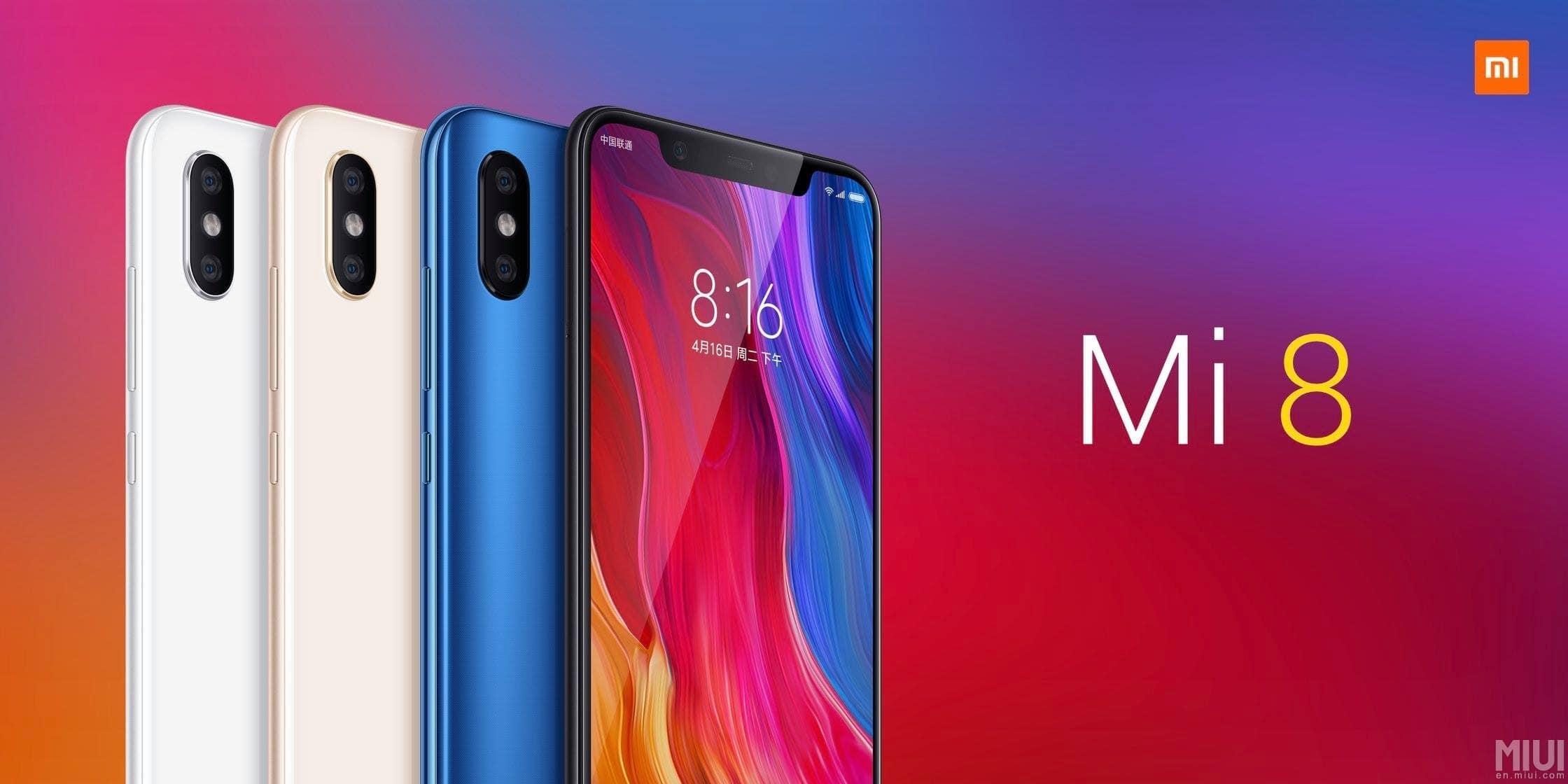 Xiaomi Mi 8 farebne varianty