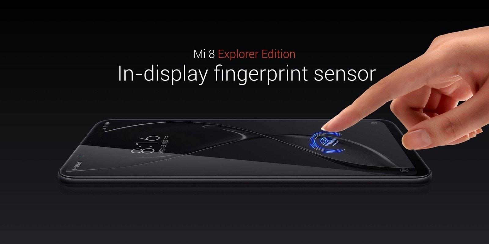 Xiaomi Mi 8 integrovaný odltacok prsta v displeji