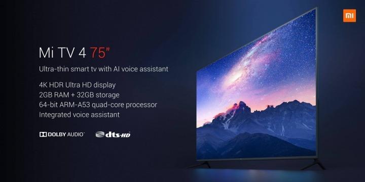 Xiaomi Mi TV4 75 palcov