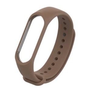 Náhradný silikónový a vodeodolný remienok pre Xiaomi Mi Band 3 hnedý