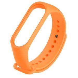 Náhradný silikónový a vodeodolný remienok pre Xiaomi Mi Band 3 oranžový