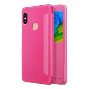 Elegantné kožené puzdro pre Xiaomi Redmi Note 5 Ružové