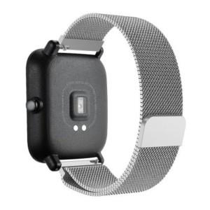 Luxusný oceľový remienok pre Xiaomi Amazfit Bip Strieborný