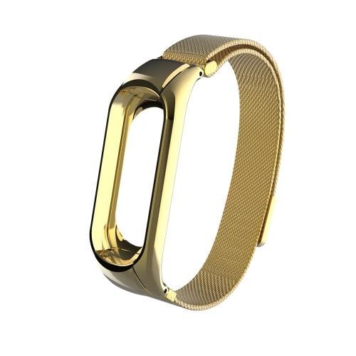Luxusný kovový remienok pre Xiaomi Mi Band 3 Zlatý