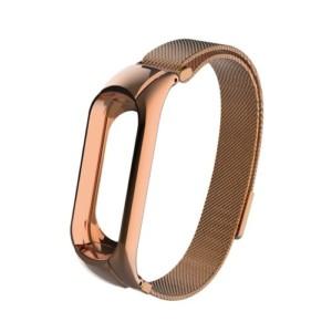 Luxusný kovový remienok pre Xiaomi Mi Band 3 Rúžovo Zlatý