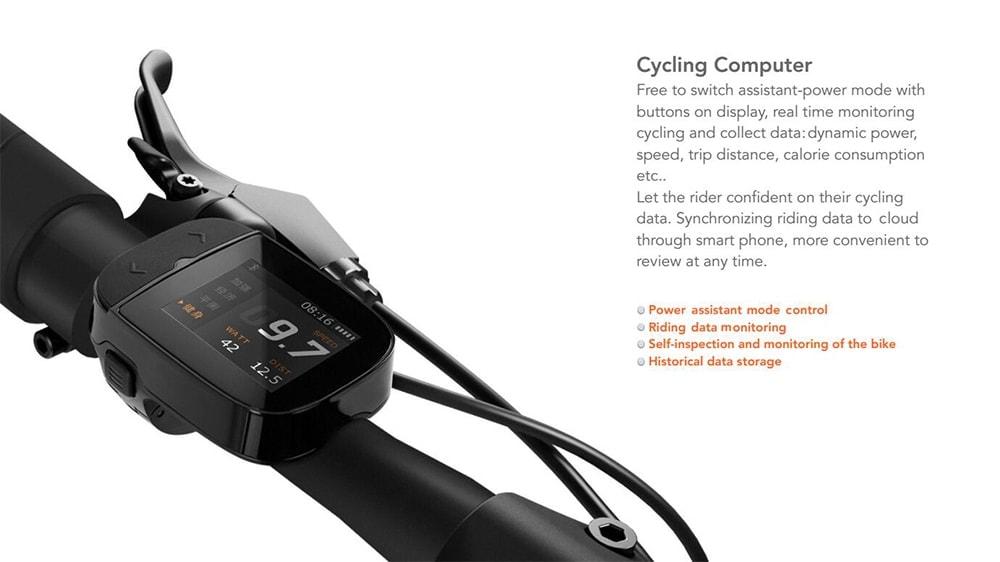 Elektrický bicykel QiCycle Xiaomi monitor zobrazovania