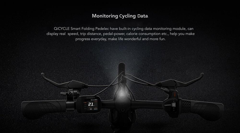 Elektrický bicykel QiCycle Xiaomi z prednej strany
