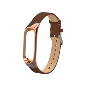 Kožený remienok pre Xiaomi Mi Band 3 Brown