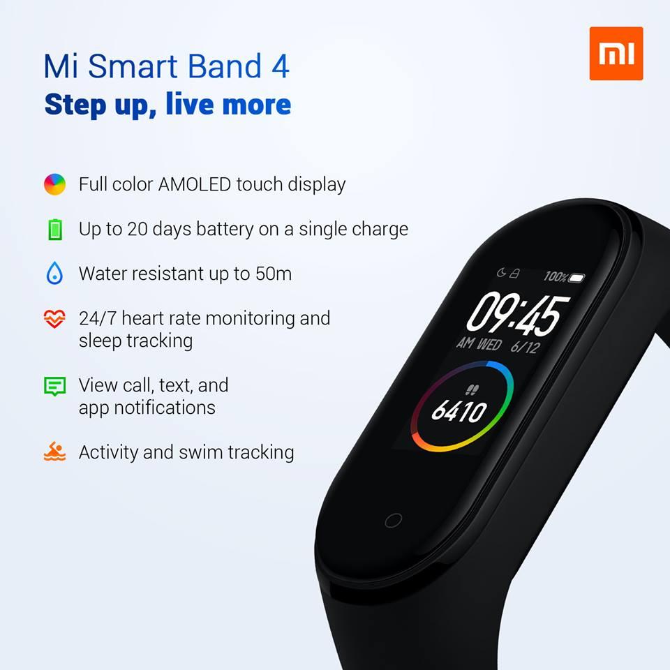 Xiaomi Mi Band 4 parametre a špecifikácie
