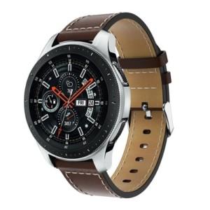 Elegantný kožený remienok pre Xiaomi Amazfit hodinky Tmavohnedý