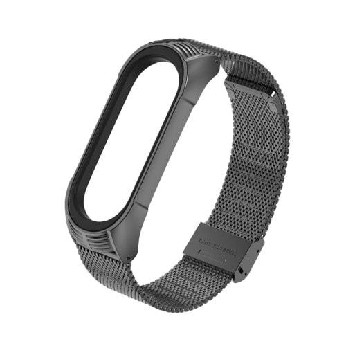 Luxusný kovový remienok pre Xiaomi Mi Band 4 Čierny