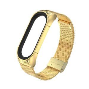Luxusný kovový remienok pre Xiaomi Mi Band 4 Zlatý