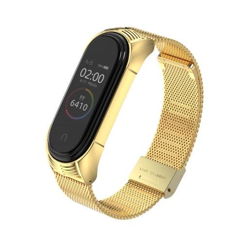 Kovový remienok pre Xiaomi Mi Band 4 Zlatý