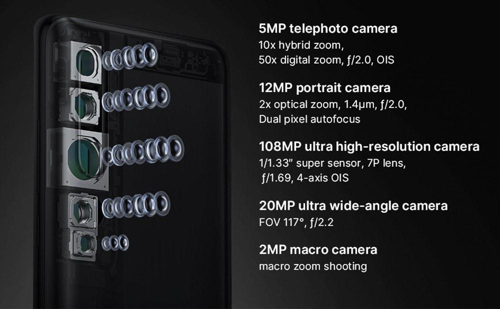 Xiaomi Mi Note 10 foťák