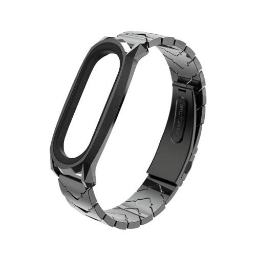 Štýlový kovový remienok pre Xiaomi Mi Band 4 Čierny