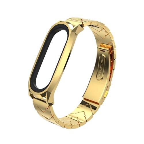 Štýlový kovový remienok pre Xiaomi Mi Band 4 Zlatý