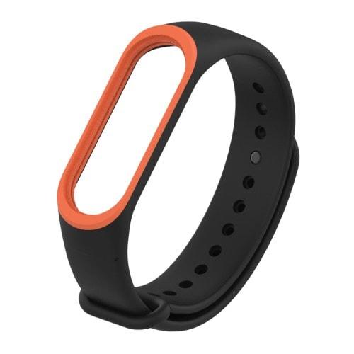 Remienok pre Xiaomi Mi Band 4 a 3 ČiernoOranžový