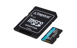 64 GB 4K microSDXC Kingston Canvas Go Plus + adaptér