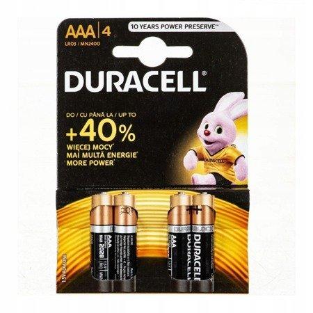 Duracell alkalické batérie AAA LR03 (4 kusy)