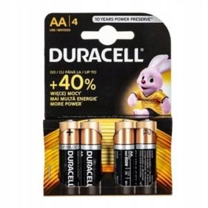 Duracell alkalické batérie AA LR06 (4 kusy)
