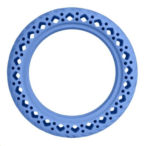 Modrá plná bezdušová gumená pneumatika pre Xiaomi kolobežky