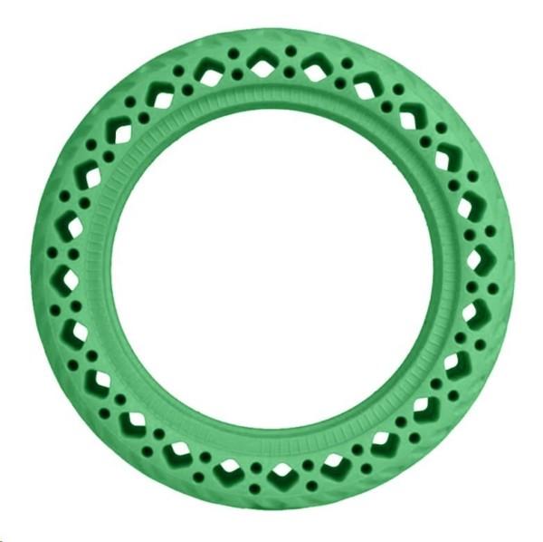 Zelená plná bezdušová gumená pneumatika pre Xiaomi kolobežky