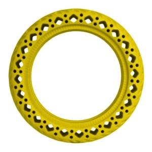 Žltá plná bezdušová gumená pneumatika pre Xiaomi kolobežky